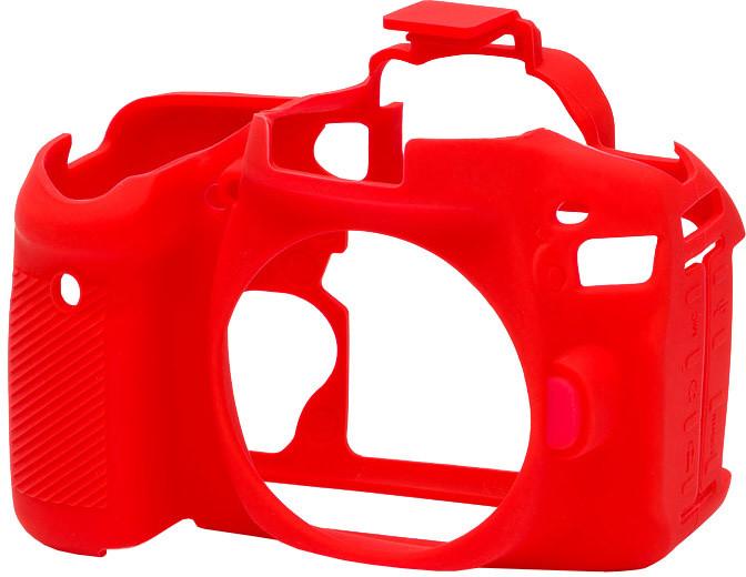 Easy Cover silikonový obal pro Canon 80D, červená