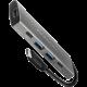 AXAGON hub USB-C 3.2 Gen2, 1xHDMI 2.0, 2xUSB-A, 2xUSB-C, 4K@30Hz, PD, 60W, stříbrná