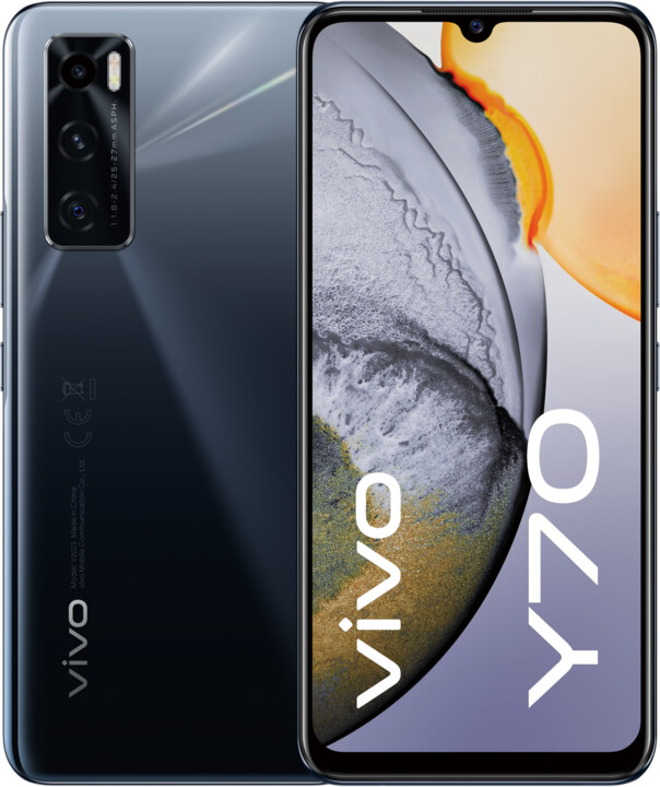 vivo Y70, 8GB/128GB, Gravity Black