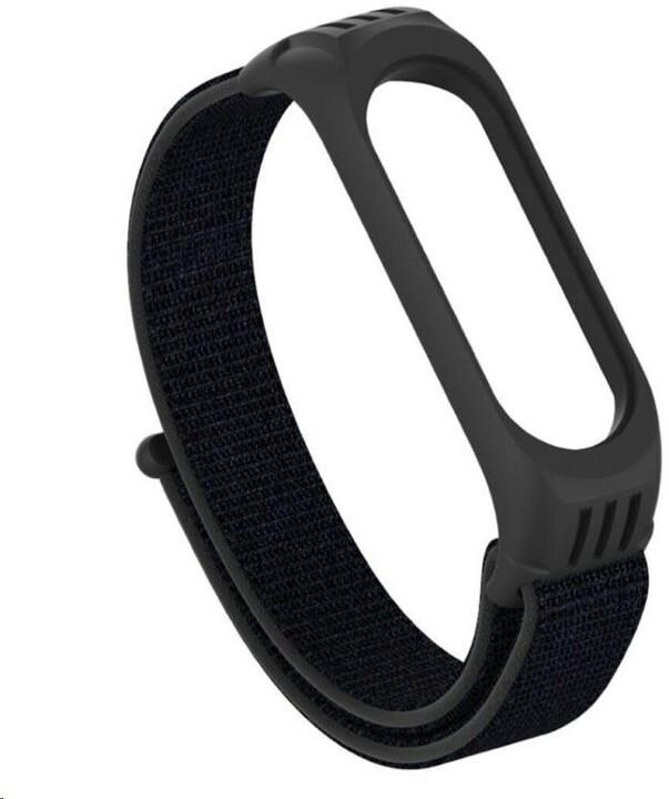 ESES nylonový řemínek se silikonovým lůžkem pro Xiaomi Mi Band 4/5/6, černá