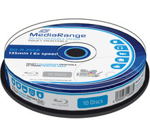 MediaRange BD-R 6x, 25GB, Printable, 10ks, spindle - MR500