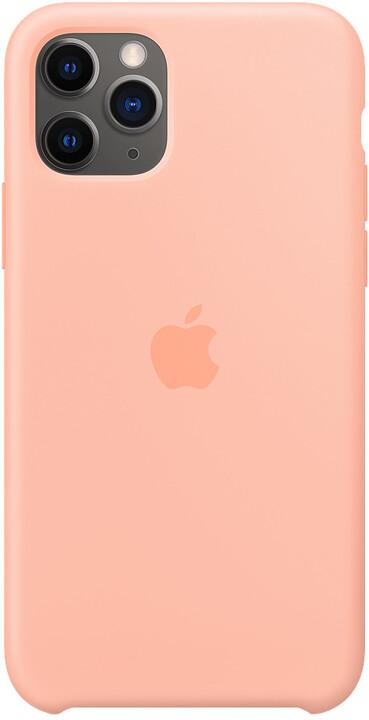 Apple silikonový kryt pro iPhone 11 Pro, grepově růžová