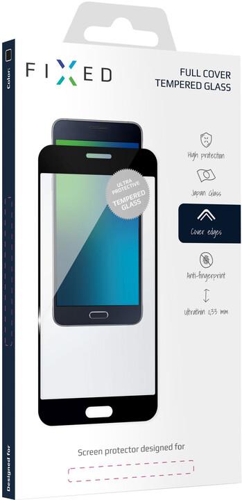 FIXED ochranné tvrzené sklo Full-Cover pro Huawei Nova 3, lepení přes celý displej, 0.33 mm, černá