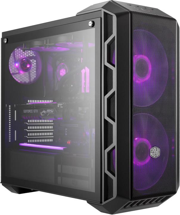 CoolerMaster MasterCase H500, kovově šedá