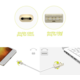 WSKEN MicroUSB nabíjecí/datový kabel, oboustranné konektory,(USB i microUSB), stříbrný