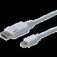 Digitus kabel DP - mini DP, M/M, 1m, bílá