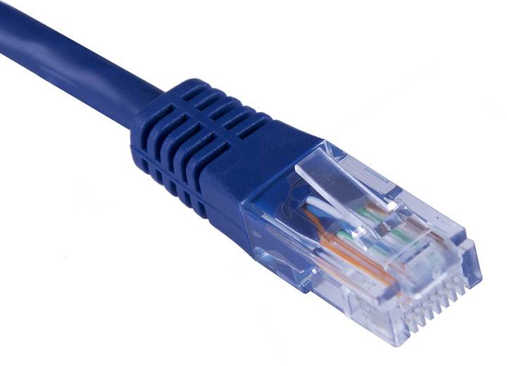 Masterlan patch kabel UTP, Cat5e, 0,5m, modrá