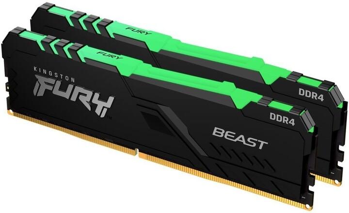 Kingston Fury Beast RGB 16GB (2x8GB) DDR4 2666 CL16