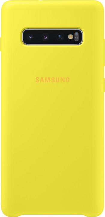 Samsung silikonový zadní kryt pro Samsung G975 Galaxy S10+, žlutá