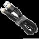 BASEUS kabel Cafule USB-A - Lightning, nabíjecí, datový, 3m, zlatá/černá