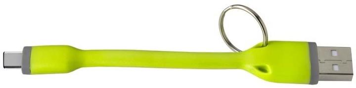 CELLY USB kabel s konektorem USB-C, 12 cm, zelený