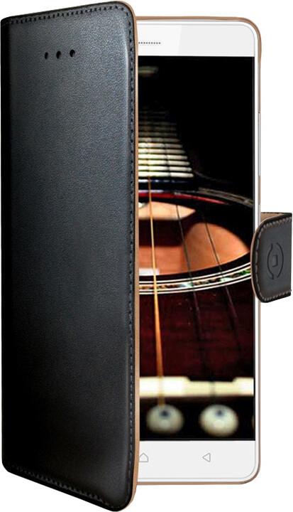 CELLY Wally Pouzdro typu kniha pro Lenovo K5 Note, PU kůže, černé