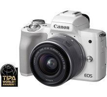 Canon EOS M50, bílá + EF-M 15-45mm IS STM O2 TV Sport Pack na 3 měsíce (max. 1x na objednávku)