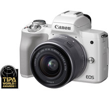 Canon EOS M50, bílá + EF-M 15-45mm IS STM - 2681C012