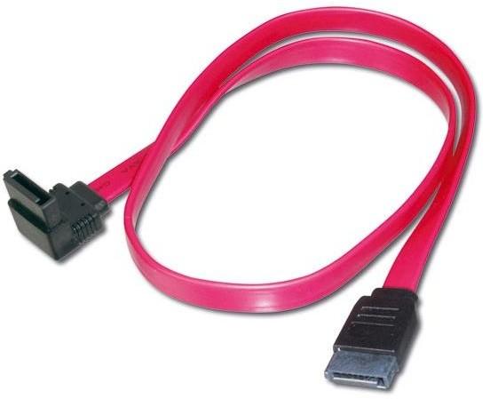 PremiumCord SATA datový, zalomený 90° - 0,7m