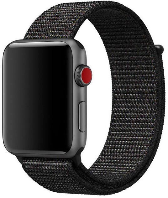 ESES nylonový řemínek 42mm pro Apple Watch, černá