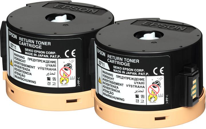 Epson C13S050711, černá, double pack