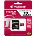 Transcend Micro SDHC Premium 400x 32GB 60MB/s UHS-I + SD adaptér