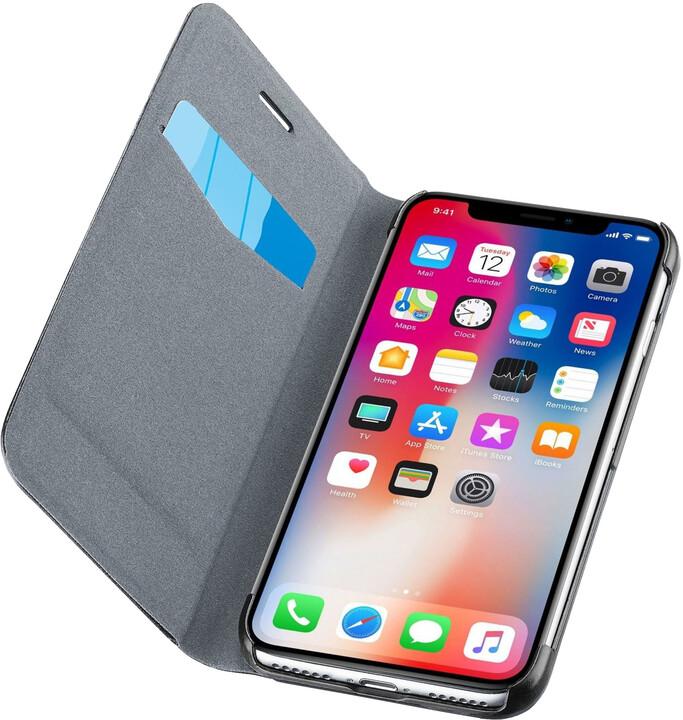 CellularLine Book Essential pouzdro typu kniha pro Apple iPhone X, černé
