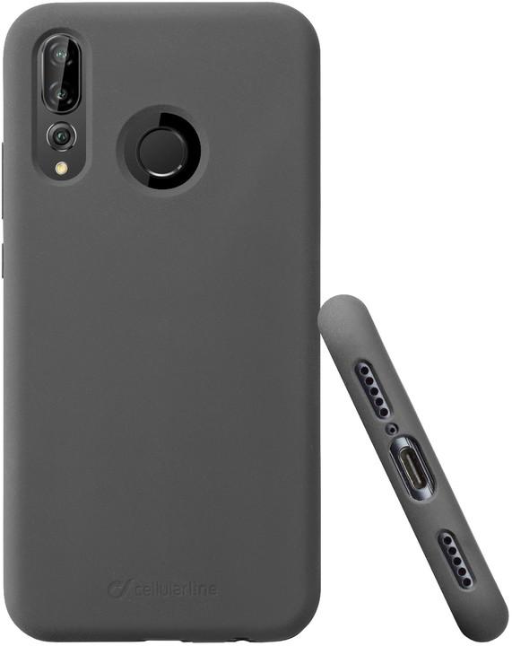 Cellularline ochranný silikonový kryt Sensation pro Huawei P30 Lite, černá