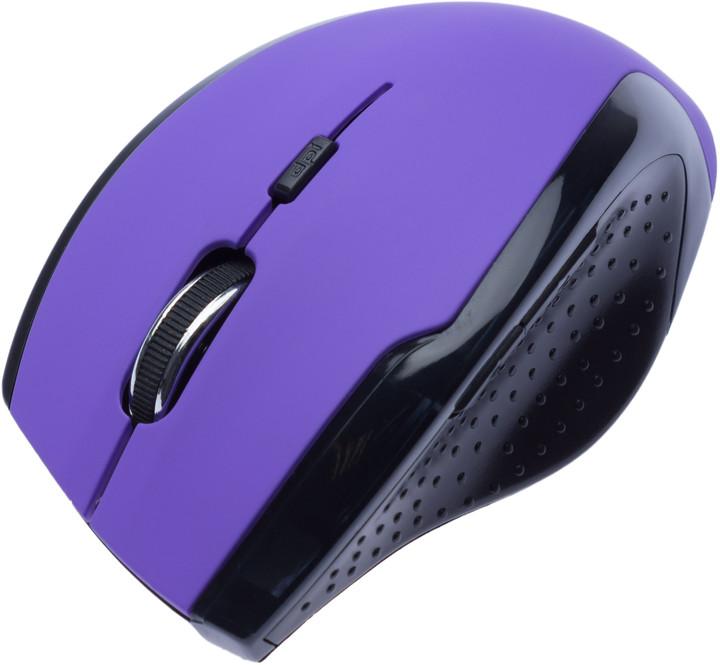 CONNECT IT bezdrátová optická myš V2, fialová
