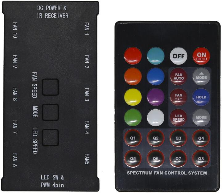 Evolveo C1, RGB FAN řadič pro ventilátor 12R1R, 5V + dálkový ovladač