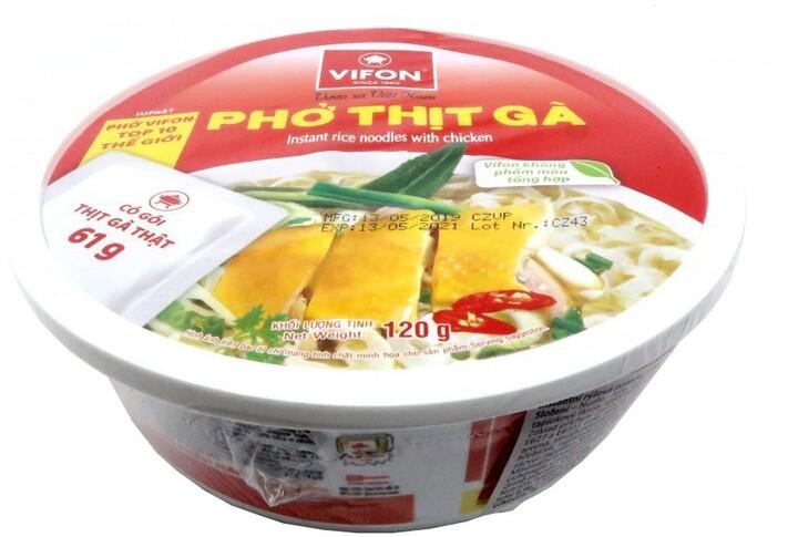 Instantní nudle Pho Ga kuřecí s kapsou masa v misce 120 g