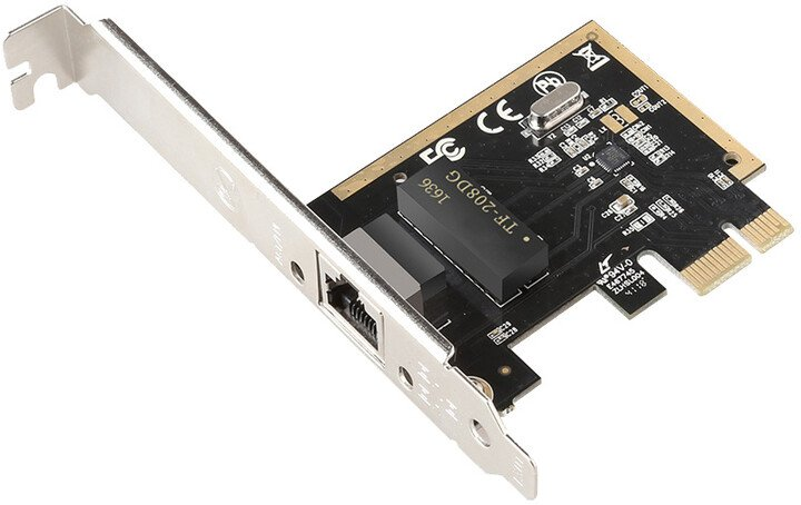 Evolveo PCIe Gigabit Ethernet Card 10/100/1000 Mbps
