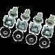 Solarix montážní sada M6, 4ks matice, 4ks šroubky, 4ks plastové podložky, SM6
