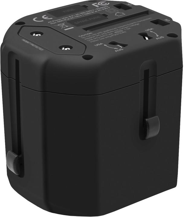 CONNECT IT Power Wanderer cestovní adaptér - černý