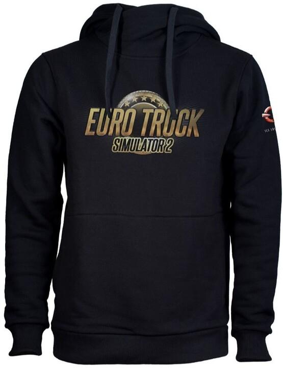 Mikina Euro Truck Simulator - Černá s logem (L)