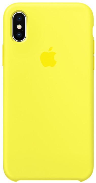 Apple silikonový kryt na iPhone X, zářivě žlutá