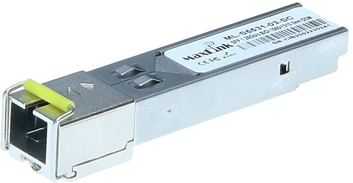 MaxLink SFP modul, 1,25Gbit, SM, Tx 1550/Rx1310nm, 3km, 1x SC konektor, DDM, Cisco kompatibilní