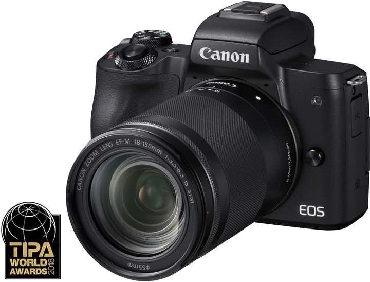Canon EOS M50, černá + EF-M 18-150mm IS STM