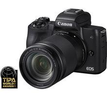 Canon EOS M50, černá + EF-M 18-150mm IS STM - 2680C042 + Trenýrky se vzorem - velikost L v hodnotě 259 Kč
