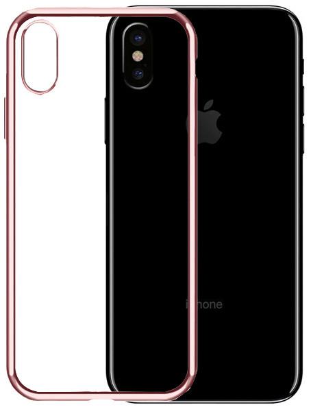 EPICO BRIGHT pružný plastový kryt pro iPhone X - rose gold