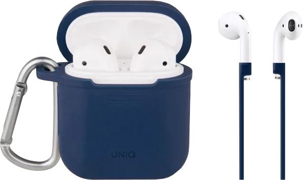 UNIQ Vencer Airpod Hang case with sports ear loop, marine blue