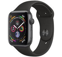 Apple Watch series 4, 44mm, pouzdro z vesmírně šedého hliníku/černý řemínek