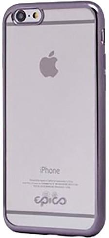 EPICO pružný plastový kryt pro iPhone 5/5S/SE BRIGHT - šedá