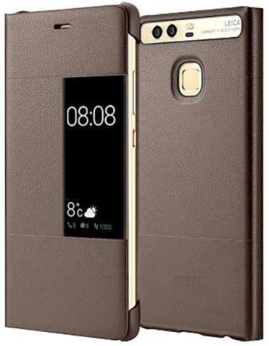 Huawei Original S-View Pouzdro Brown pro P9 (EU Blister)