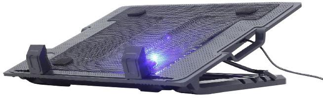 """Gembird podstavec pod notebook, pro notebooky do 17"""", 150mm větrák, LED, černá"""