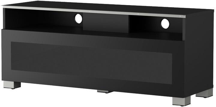 Meliconi 500401 TV stolek, skleněný, černá
