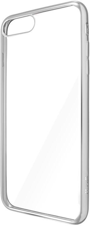 CELLY Laser - pouzdro lemování s kovovým efektem pro iPhone 7 Plus, stříbrné