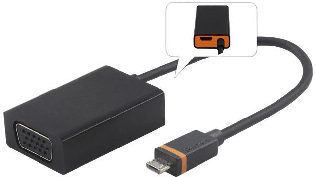 PremiumCord SlimPort/MyDP adaptér na VGA s micro USB napájením
