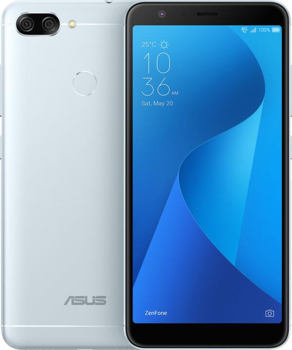 ASUS ZenFone Max Plus (M1) ZB570TL, stříbrná
