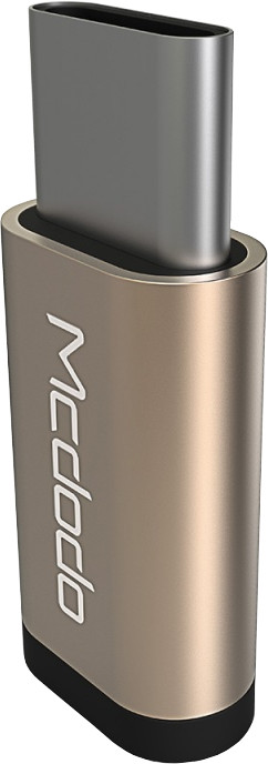 Mcdodo redukce z microUSB na USB-C (11x25x5 mm), zlatá