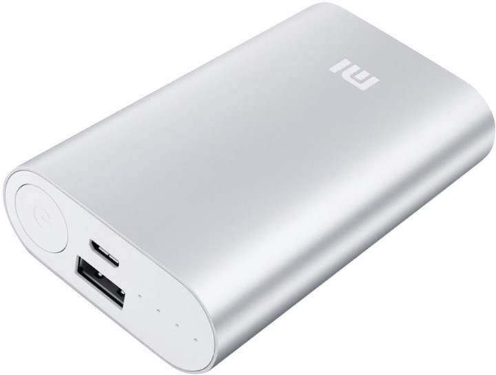 Xiaomi Power Bank 10000 mAh, stříbrná