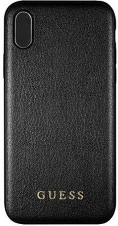 GUESS PU Leather Hard Case Iridescent pro iPhone Xs Max, černé