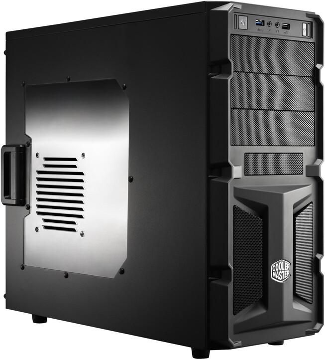 CoolerMaster K350, okno, černá