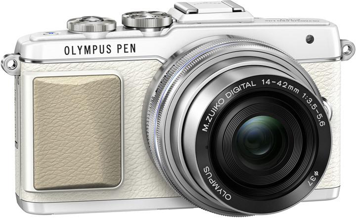 Olympus E-PL7 + 14-42 mm EZ, bílá/stříbrná
